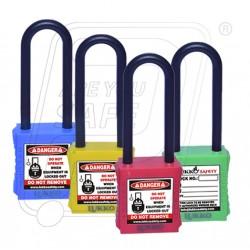 OSHA safety lockout padlock Nylon Shackle 76 mm