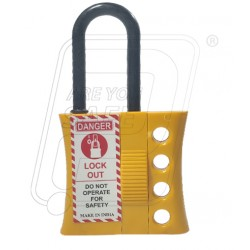 De-electric lockout Hasp 6 mm. thick shackle