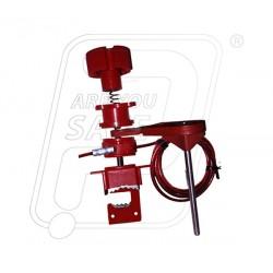 Universal valve lockout with single small arm UV82 Lukko