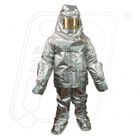 Aluminised fire entry suit 7 layer