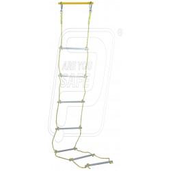 Safety ladder alum. steps 12 MM rope