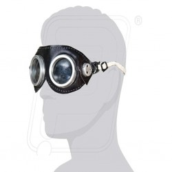 Goggles leather aluminium ring