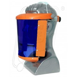 "Face shield Blue 6"" x 11"" A type + Head Ring"