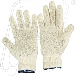 Hand gloves knitted natural C 1032 Mallcom