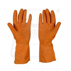 Hand gloves rubber Gold Finger 30 cm