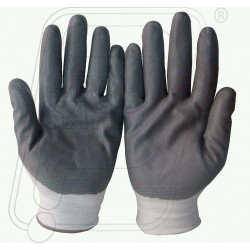 Hand gloves nitrile coted on nylon