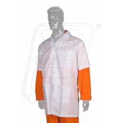 Apron cotton lab coat white