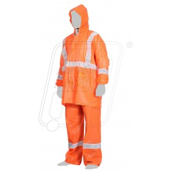 Rain wear high visibility with reflective tape