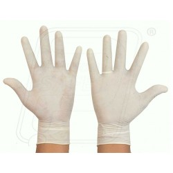 Hand gloves latex rubber examination (Disposable)