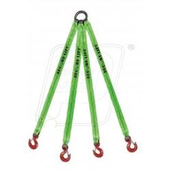 Four legged webbing slings each 2T X 4M