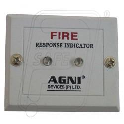 Fire alarm response indicator