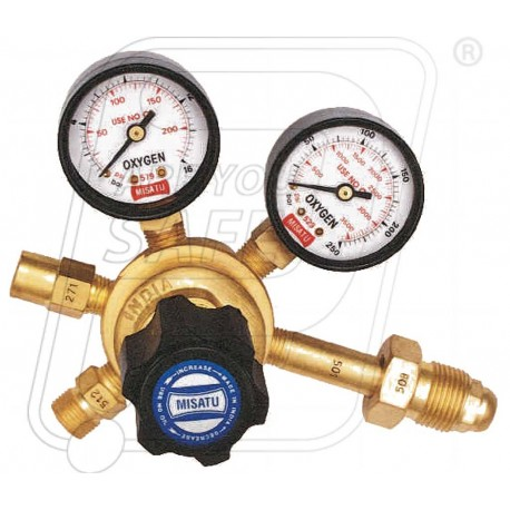 Single stage double gauge regulator Acetylene