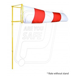 Wind Sock Indicator Polyester Red & White