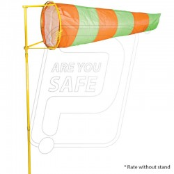 Wind sock indicator flourocent PU coated