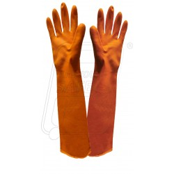 Hand gloves rubber gold finger 55 cm