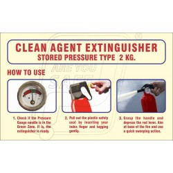 How to use clean agent extinguisher