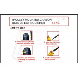 How to use trolley mounted carbon dioxide extinguisher