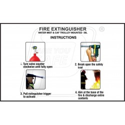 How to use fire extinguisher watermist