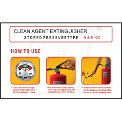 How to use clean agent extinguisher 6 & 9 kg