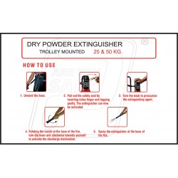 How to dry powder extinguisher trolley mounted