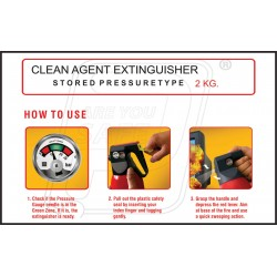 How to use clean agent extinguisher 2kg