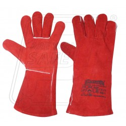 Hand gloves leather red winter Firdous