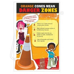 Orange cone means danger zone