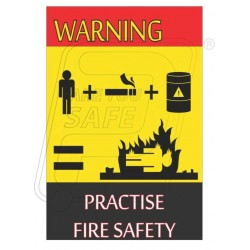Warning- practise fire safety
