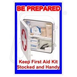 Be prepared first aid kit
