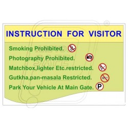 Instruction for visitor