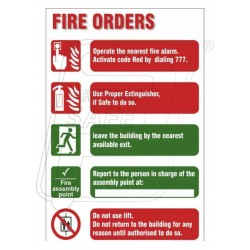 Fire order
