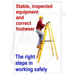 Stable, inspected equipment and correct footwear