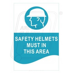 Safety helmet must in this area