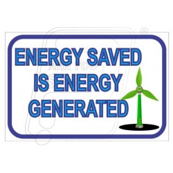 Energy saved is energy generated