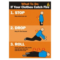 What to do if your clothes catch fire