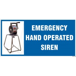 Emergency Hand Operated Siren