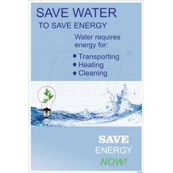 Save water to save energy