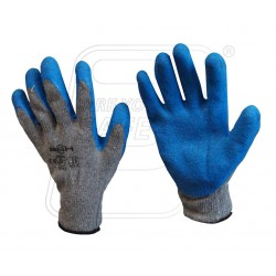 Hand Gloves Latex Coating Gray/Blue.