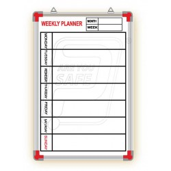 "Weekly Planner Printed board 24"" X 18"""