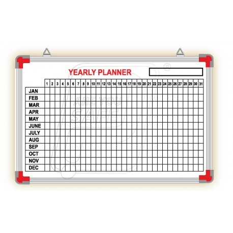 Yearly Planner board 2' X 3'.