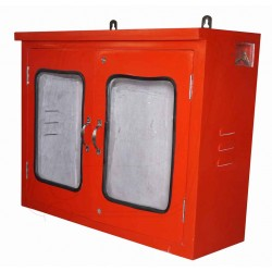 Fire hose box mild steel double door