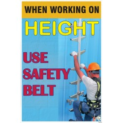 When working on height use safety belt