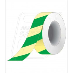 Night glow green diagnol tape 50 mm X 10 M