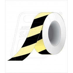 Night glow black diagnol tape 50 mm X 10 M