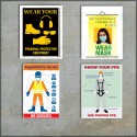 Personal protection posters