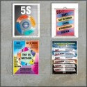 5 S And Kaizen posters